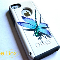 3D OTTERBOX iphone 5c case, case cover iphone 5c otterbox ,iphone 5c otterbox case,otterbox iPhone 5c,gift,dragonfly otterbox case
