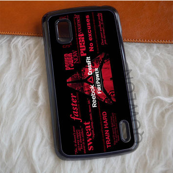 Reebok CrossFit Text Nexus 4 Case