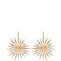 14K Yellow Gold Starburst Multi Sapphire Earrings by Madhuri Parson - Moda Operandi