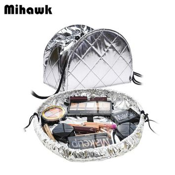Drawstring shrink Women's Cosmetic Bag Travel Toiletry Makeup Case Beautician Organizer Pouch Accessories Supplies Products