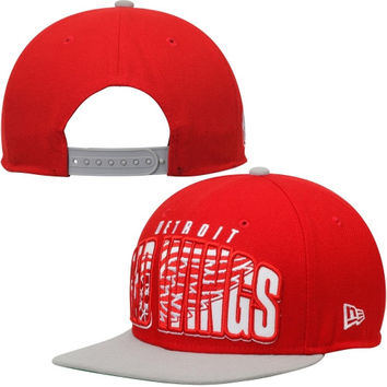 Detroit Red Wings New Era Double Mix 9FIFTY Adjustable Hat – Red