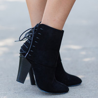 'Tied' & True Booties-Black