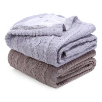 Berkshire Blanket Sweaterknit Reversible Faux Fur Tipped Throw Blanket