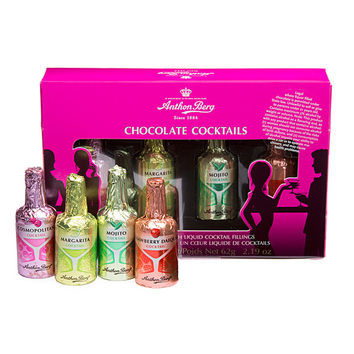 Anthon Berg Chocolate Cocktails Liquor Bottles: 4-Piece Box