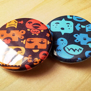 Creatures //  two 1.25 inch button