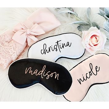 Personalized Satin Sleep Mask