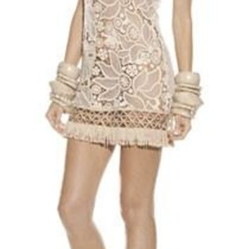 Alexis Andee Mini Dress in Beige