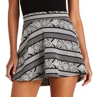 TRIBAL TEXTURED SKATER SKIRT