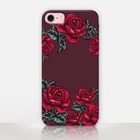 Roses Maroon Phone Case For -iPhone 8 - iPhone 7 - iPhone 7 Plus - iPhone SE - iPhone 5  - iPhone X  - Catching Rainbows – CRCases