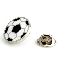 Soccerball Sports Football Lapel Pin Tack Tie