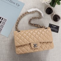 Double C Quilted Tan Bag