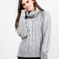Turtleneck Chunky Knit Sweater