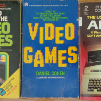 vintage book ATARI Apple IIe IIc IBM PCjr Commodore 64 Vic 20 Video Games Pac Man Basic Programming Retro Gaming lot