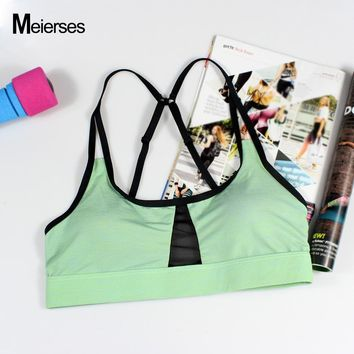 207281eaa732d MEIERSES Women Gym Bra For Sports Running Fitness Adjustable Spa