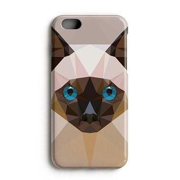 Geometric Siamese Cat iPhone 7 Case iPhone 8 Case
