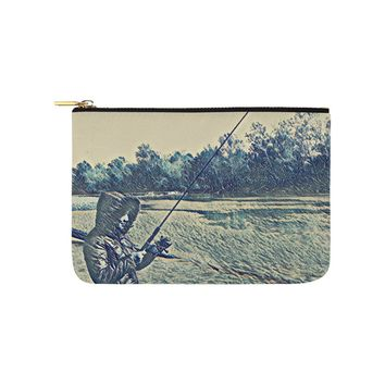Levi Thang Fishing Design 5 Carry-All Pouch 9.5''x6''