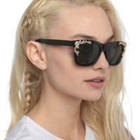 Black And Gold Filigree Sunglasses