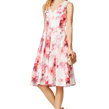 Carmen Marc Valvo Rose Notes Dress