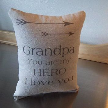 Best gift for Grandpa throw pillow grandfather gift pillow