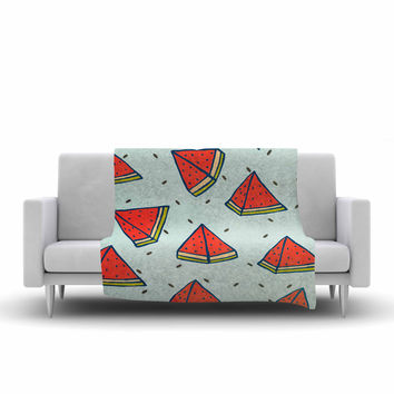 "Strawberringo ""Watermelon Pattern Summer Love"" Fruit Food Fleece Throw Blanket"