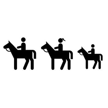 16cm*5cm Horse Riding Funny Car-styling Originality Vinyl Decal Car Sticker