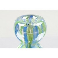 Murano Hand Blown Glass Rainbow Candle Holder Paperweight NP-1225