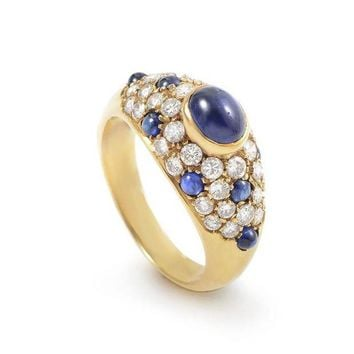 DCCKG2C Cartier Gold Diamond and Sapphire Ring