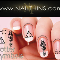 Harry Potter Nail decals Deathly Hallows Nails Dark Mark Nail Decals NAILTHINS