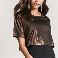 Metallic Knit Crop Top
