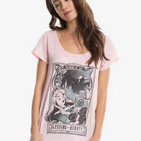 Disney Sleeping Beauty Tarot Card Womens Tee