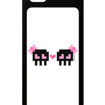 8-Bit Skull Love - Girl and Girl iPhone 5 / 5S Grip Case  by TooLoud