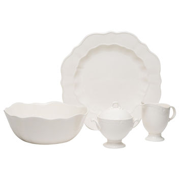 Red Vanilla Country Estate White 5-piece Serving Set | Overstock.com Shopping - The Best Deals on Casual Dinnerware