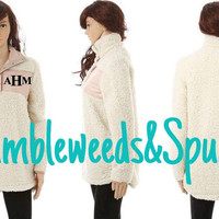 Pullover, Monogrammed Sherpa Pullover, Sherpa Pullover Monogram, Monogrammed Pullover