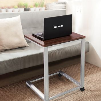 Giantex Coffee Tray Sofa Side End Table Modern Lap Stand TV Snack Ottoman Couch Room Rolling Living Room Side Table HW54185