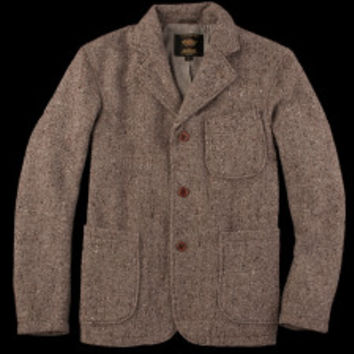 UNIONMADE - Golden Bear - Golden Bear Donegal Wool Blazer with Rounded Pockets in Brown