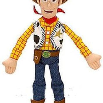 "Licensed cool NEW 18"" Disney Store Pixar Toy Story 3 Sheriff Woody Plush Cowboy Rag Doll 2011"