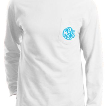 Monogrammed Long Sleeve T-Shirt | Personalized & Preppy | Marley Lilly