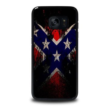 browning rebel flag samsung galaxy s7 edge case cover  number 1