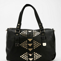 Urban Outfitters - Triangle-Stud East/West Vegan Leather Satchel Bag