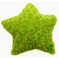 """Green Star Pillow Color LED Light Up Flash Plush Throw Couch Bed 13"""" Microbeads"""