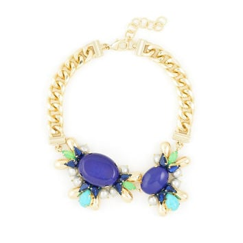 Cobalt Blue Statement Necklace