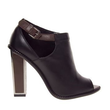 Mango Cut Out Heeled Ankle Boots