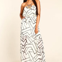 Shattered Glass Maxi Dress