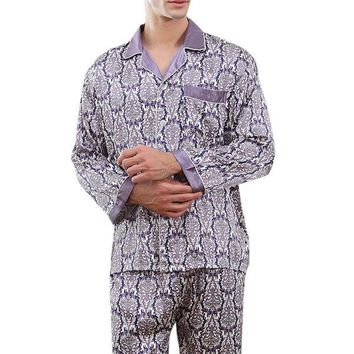 Soft Faux Silk Printing Pajamas