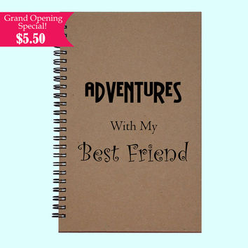Adventures With My Best Friend - Journal, Book, Custom Journal, Sketchbook, Scrapbook, Extra-Heavyweight Covers