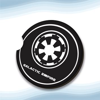 SW-Galactic Empire Car Cup Holder Coasters Hardboard (Set of 2)