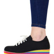 RAINBOW STEPPIN' PLATFORM SHOES