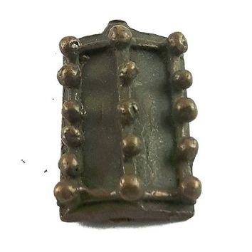 African Charms / Akan gold Weight - Shield Form / Trinket, unique good luck charm / Akan people old curency / African art