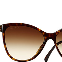 Chanel Sunglasses Dark tortoise Butterfly Charms | Online Boutique