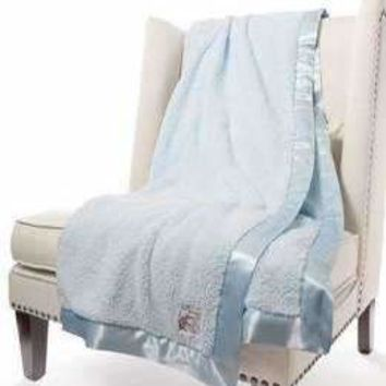 Chenille Solid XL Throw Blue